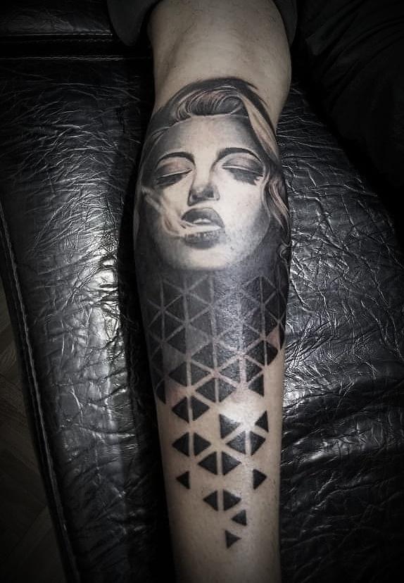 Lady Face Tattoo by Sumina Shrestha, Tattoo Artist in Nepal