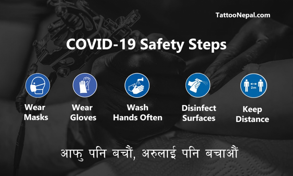 Nepal Tattoo COVID-19 Corona